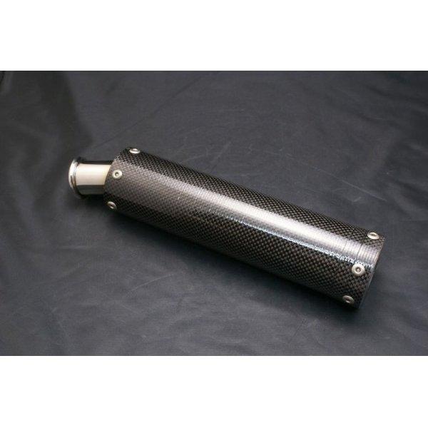画像1: スリムカーボンサイレンサー( 逆三角形 ボルトピッチ40mm )1本